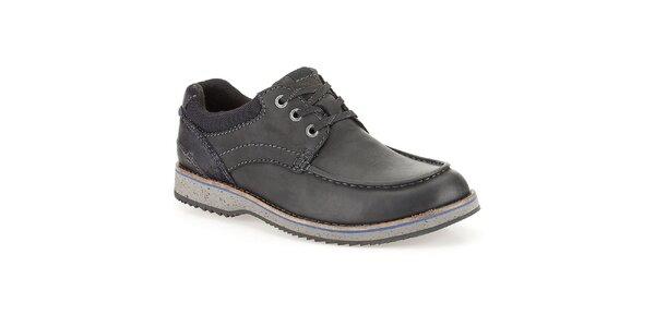 Pánske čierne šnurovacie topánky Clarks