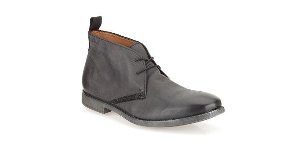 90036f299638 Pánske kožené členkové topánky Clarks – čierne
