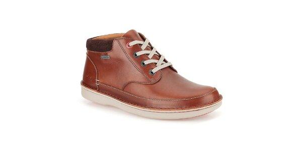 Pánske hnedé topánky Clarks - členkové