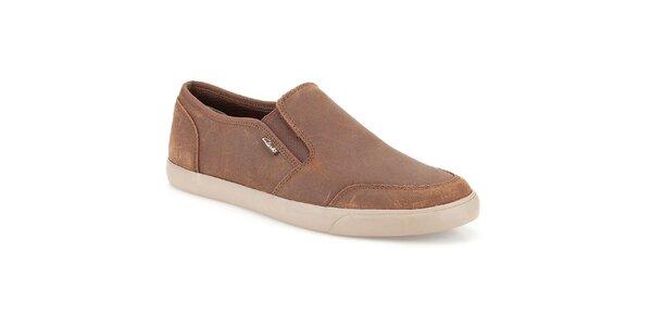 Pánske semišové topánky Clarks - nazúvacie