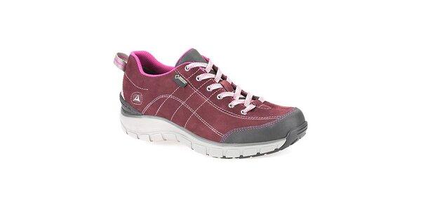 Dámske tmavo ružové trekové topánky Clarks