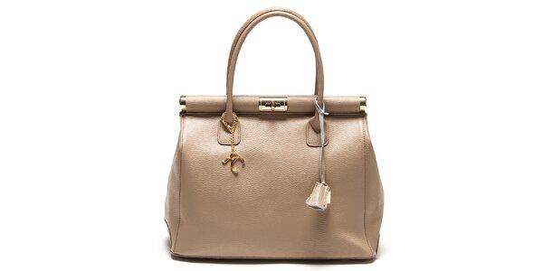 Trendy svetlo šedá kožená kabelka Renata Corsi