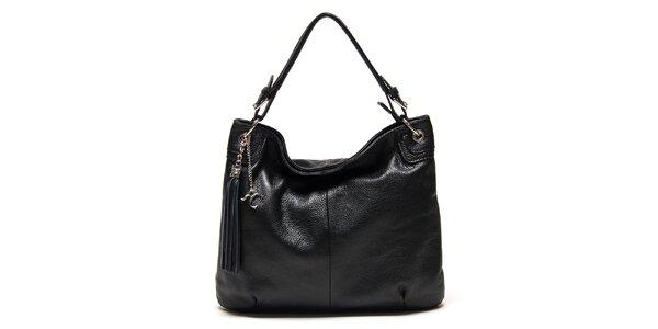 Dámska čierna kabelka so strapcom Renata Corsi