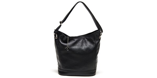Dámska čierna kabelka s pevným dnom Renata Corsi