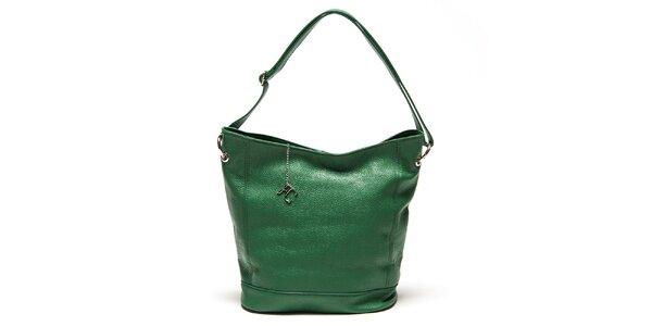 Dámska zelená kabelka s pevným dnom Renata Corsi