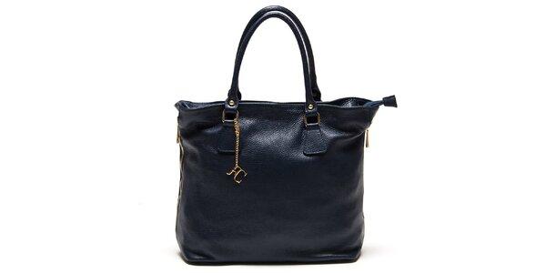 Dámska tmavomodrá kabelka s bočnými zipsami Renata Corsi