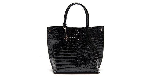 Dámska čierna lakovaná kabelka Renata Corsi