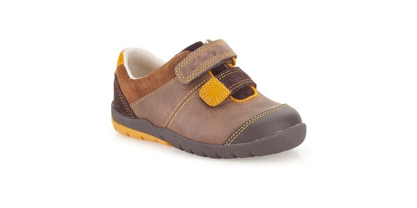 Detské topánky v hnedých odtieňoch Clarks