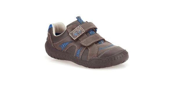 Detské kožené topánky s dinosaurím motívom Clarks
