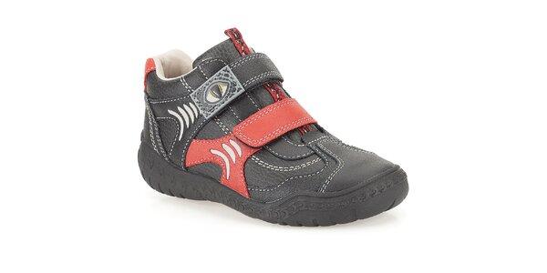 Detské členkové topánky s dinosaurím motívom Clarks