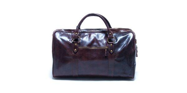 Dámska veľká tmavo hnedá kabelka Renata Corsi