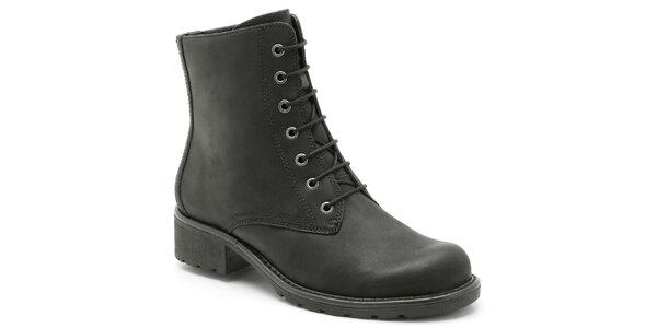 Dámske čierne šnurovacie topánky Clarks