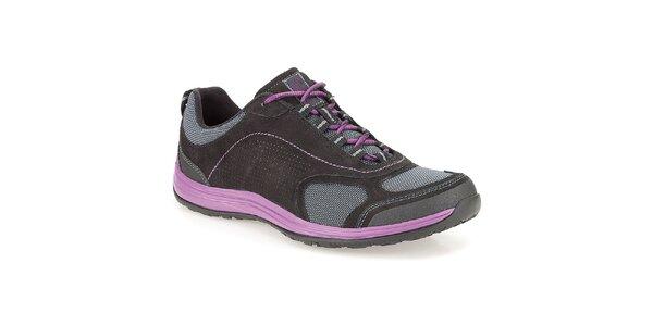 Dámske športové topánky s fialovými prvkami Clarks