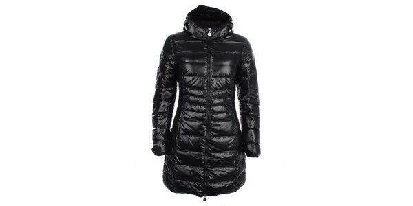 Dámsky lesklý prešívaný kabát LWJ Collection