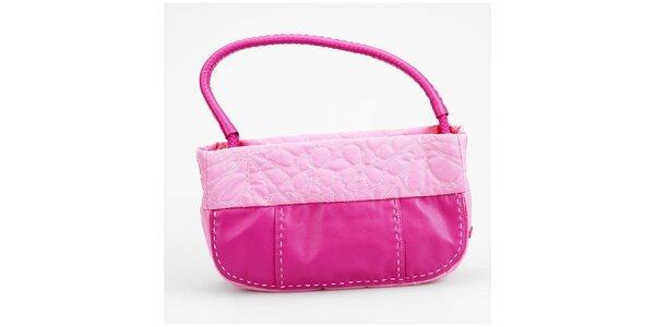 Dámska ružová kabelka Sisley s ozdobným prešívaním