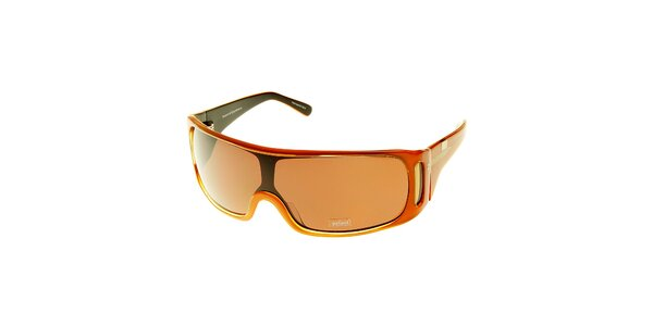 Dámske jantárovo zlaté slnečné okuliare Axcent