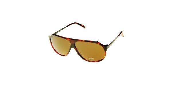 Dámske hnedé korytnačie slnečné okuliare Axcent