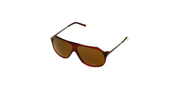 Dámske temne červené slnečné okuliare Axcent