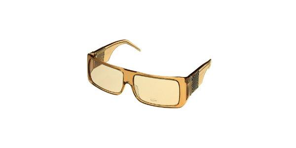 Dámske béžové transparentné slnečné okuliare Axcent