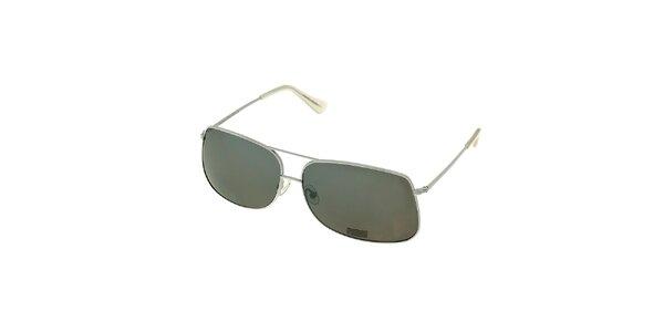 Dámske biele pilotné okuliare Axcent
