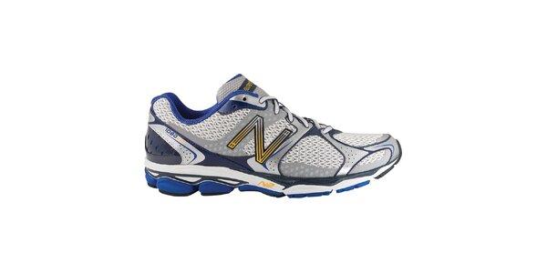 Pánske strieborno-modré bežecké topánky New Balance