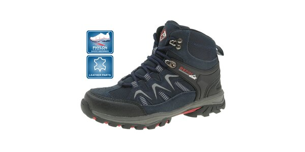 Detské tmavo modré outdoorové topánky Beppi