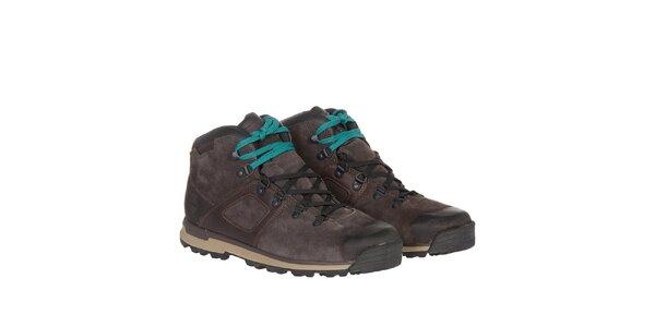 Pánske tmavo hnedé vodeodolné topánky Timberland