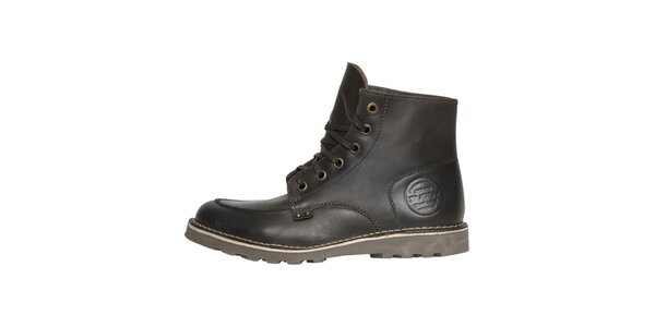 Pánske hnedé kožené topánky Buggy