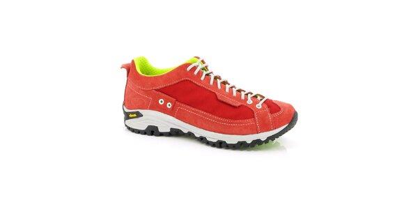 Dámske červeno-neonové športové topánky Kimberfeel
