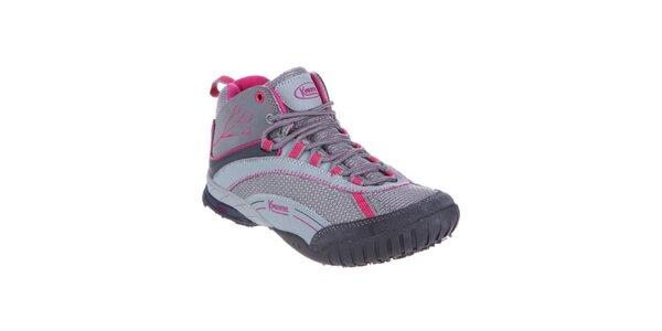 Dámske šedo-ružové športové topánky Kimberfeel