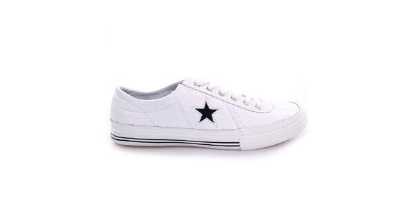 Biele nízke topánky s hviezdou Converse