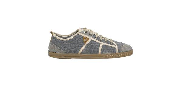 Pánske šedé topánky so semišovou špičkou Buggy