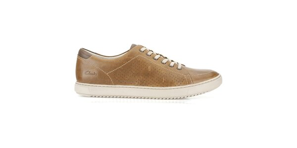 Pánske koňakovo hnedé šnurovacie topánky Clarks