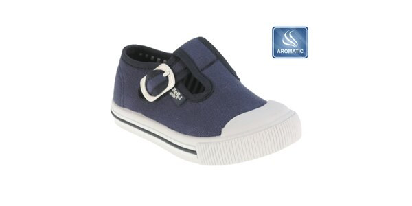 Detské tmavo modré topánky s prackou Beppi