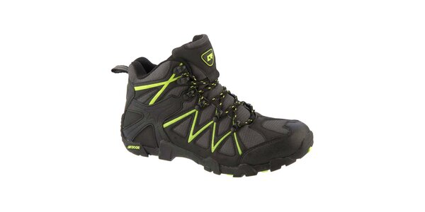 Pánske šedé topánky so zelenými prvkami Crosby