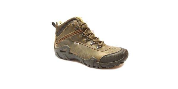 Pánske svetlo hnedé zimné členkové topánky Numero Uno