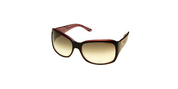 Dámske hnedo-ružové slnečné okuliare Axcent s hadím vzorom