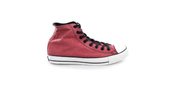 Červené vintage plátené topánky Converse
