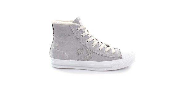 Šedé členkové topánky Converse