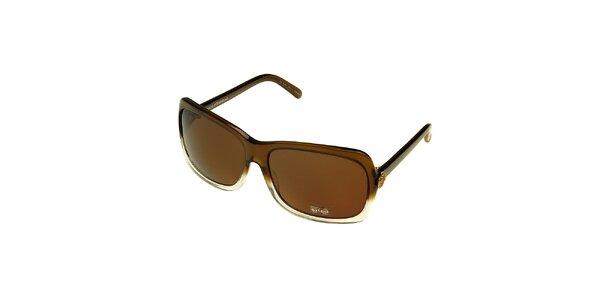 Dámske hnedo-biele slnečné okuliare Axcent