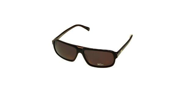 Dámske tmavo hnedé slnečné okuliare Axcent