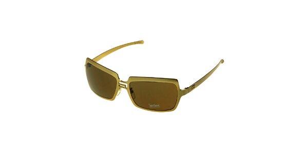 Dámske zlaté slnečné okuliare Axcent