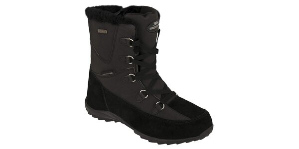 Dámske čierne zimné topánky Trespass