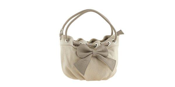 Dámska béžová kabelka s mašľou Valentina Italy