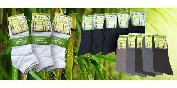 Bambusové ponožky na všetky uzimené nôžky