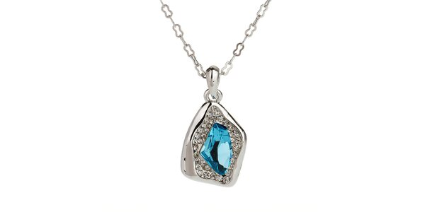 Dámsky náhrdelník s modrým kamienkom Fifi Ange