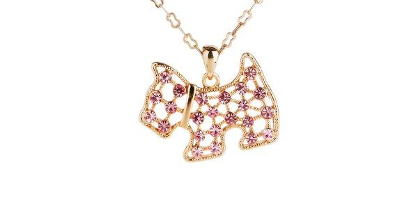 Dámsky náhrdelník s príveskom psa Fifi Ange