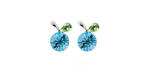 Dámske modro-zelené náušnice Fifi Ange