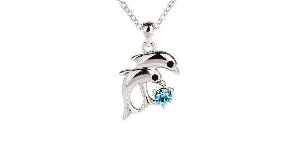 Dámsky náhrdelník s delfínikmi Fifi Ange