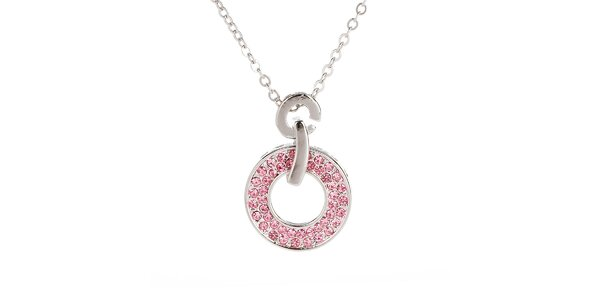 Dámsky náhrdelník s ružovým kolieskom Fifi Ange
